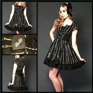 Lolita Bones Dress Gothic Killstar Hot Topic
